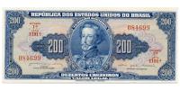 Billete Brasil 200 Cruzeiros 1964 - Numisfila