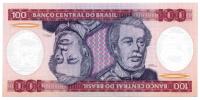 Billete Brasil 100 Cruzeiros 1984 - Numisfila