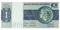Billete Brasil 1 Cruzeiro 1980 - Numisfila