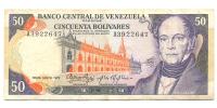 Billete 50 Bolivares 1972 A7 Serial A3922647 - Numisfila
