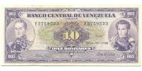 Billete 10 Bolivares 1966 Y7 Serial Y3759523 - Numisfila