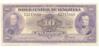 Billete 10 Bolivares Marzo 1950 C7 Serial C2715849 - Numisfila