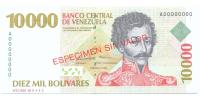 Billete Especimen Sin Valor 10.000 Bolivares 1998 #0493 - Numisfila