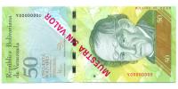 Billete Muestra Sin Valor 50 Bolívares 2014 #0028 - Numisfila
