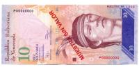 Billete Muestra Sin Valor 10 Bolivares Febrero 2011 #1902 - Numisfila