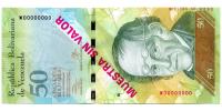 Billete Muestra Sin Valor 50 Bolivares 2013 #0032 - Numisfila