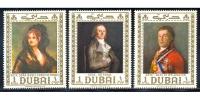 Set Estampillas Dubai 1967 Pinturas Goya - Numisfila
