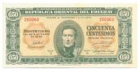 Billete Uruguay 0,50 Centesimos 1939 (1966) - Numisfila
