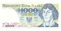 Billete Polonia 10 Zlotych 1982 Copernico - Numisfila