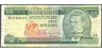 Billete de Barbados de 5 Dólares de 1973 - Numisfila