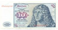 Billete Alemania 10 Mark de 1970 Albert Durer - Numisfila