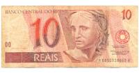 Billete Brasil 10 Reales 1997 Guacamaya - Numisfila