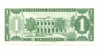 Billete de Paraguay 1 Guarani de 1952 - Numisfila