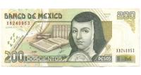 Billete México 200 Pesos 1999 Juana Inés de la Cruz  - Numisfila