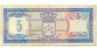 Billete Antillas Holandesas 5 Gulden 1980 - Numisfila