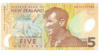 Billete Plático de Nueva Zelanda, 5 Dólares de 1999 - Numisfila