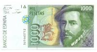 Billete España 1000 Pesetas 1992 Hernan Cortes y Francisco Pizarro - Numisfila
