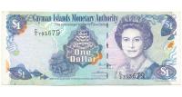 Billete Islas Caiman 1 Dolar 2003 Elizabeth II, Pez mariposa - Numisfila