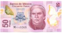 Billete Plastico Mexico 50 Pesos 2014 Morelos - Numisfila