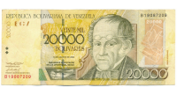 Billete 20.000 Bolívares 2002 Serial B8 - Numisfila