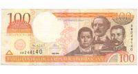 Billete de República Dominicana 100 Pesos Oro de 2000 - Numisfila