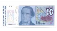 Billete de Argetina 10 Australes de 1985 - Numisfila