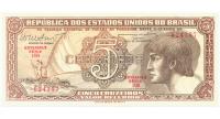 Billete Brasil 5 Cruzeiros 1961 - 1962 - Numisfila