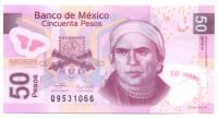 Billete Plastico Mexico 50 Pesos 2006 Morelos - Numisfila