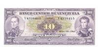 Billete 10 Bolívares 1966 Y7 Serial Y4338415 - Numisfila