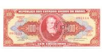 Billete Brasil 10 Centavos en 100 Cruzeiros 1966 - Numisfila