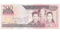 Billete Republica Dominicana 200 Pesos Pesos Oro 2007 Hermanas Miraval - Numisfila