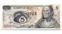 Billete Mexico 5 Pesos 1972 - Numisfila