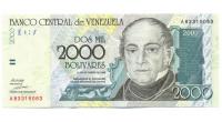 Billete 2000 Bolívares Octubre 1998 A8  - Numisfila
