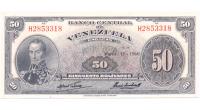 Billete 50 Bolívares 1960 H7 Serial H2853318 - Numisfila