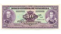 Billete 10 Bolivares 1992 Muestra Sin Valor - Numisfila