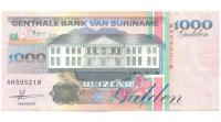 Billete Suriname 1.000 Gulden 1993 Tucan - Numisfila