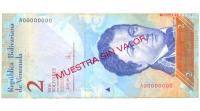 Muestra Sin Valor Billete 2 Bolívares 2007 #0414 - Numisfila