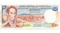 Billete 500 Bolívares 1972 El Guri Serial A0351318 - Numisfila