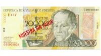 Billete Muestra Sin Valor 20.000 Bs 2004 C8 #0969 - Numisfila