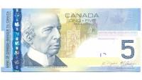 Billete Canada 5 Dolares 2006 - Numisfila