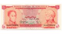Billete 5 Bolívares De 1974 D8 - Numisfila