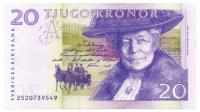 Billete Suecia 20 Kronor 2008 - Numisfila