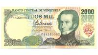 Billete 2000 Bolívares Agosto 1998 F8 - Numisfila