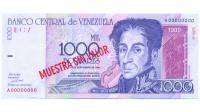 Billete Muestra Sin Valor 1000 Bolivares 1998 #0476 - Numisfila
