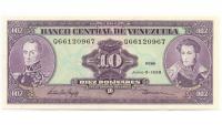 Billete 10 Bolívares de 1995 Serial Q8 - Numisfila