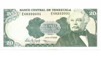 Billete 20 Bolívares 1995 E8  - Numisfila