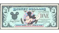 Billete de Disney 1 Dólar de 1990 - Numisfila