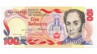 Billete 100 Bolívares 1980 Conmemorativo Serial A49561810 - Numisfila
