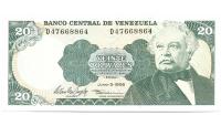 Billete 20 Bolívares 1995 D8 - Numisfila