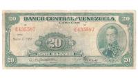 Billete 20 Bolivares Marzo 1950 E6 Serial E435587 - Numisfila